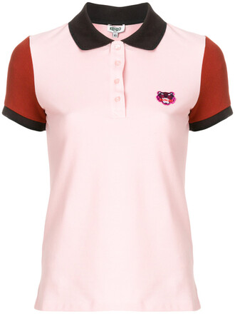 shirt polo shirt women tiger cotton purple pink top