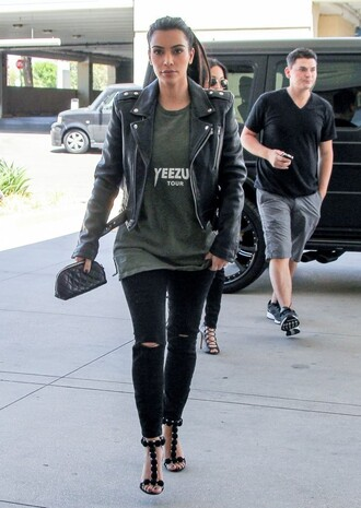 jacket shoes sandals jeans kim kardashian