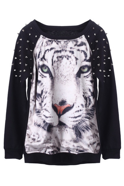 Spike Tiger Print Sweater | Outfit Made