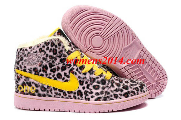 fur winter shoes nike air jordan 1 air jordan i leopard yellow