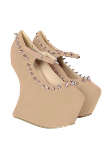 shorts sculpted wedges tan wedges high heels wedges heels spikey