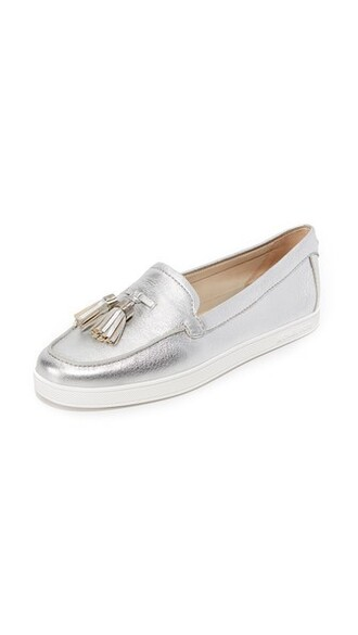 moccasins silver shoes