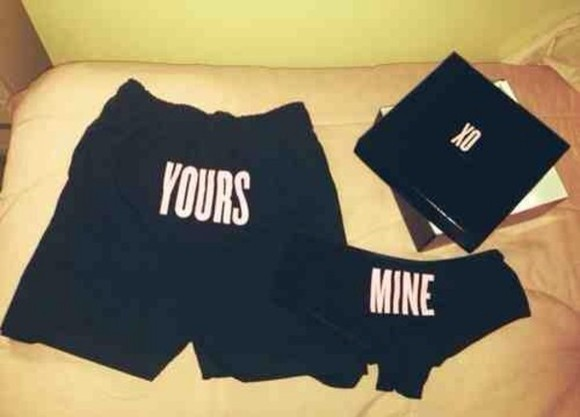 underwear black women men shirts beyonce pink words new panties beyonce knowles yours and mine boxers