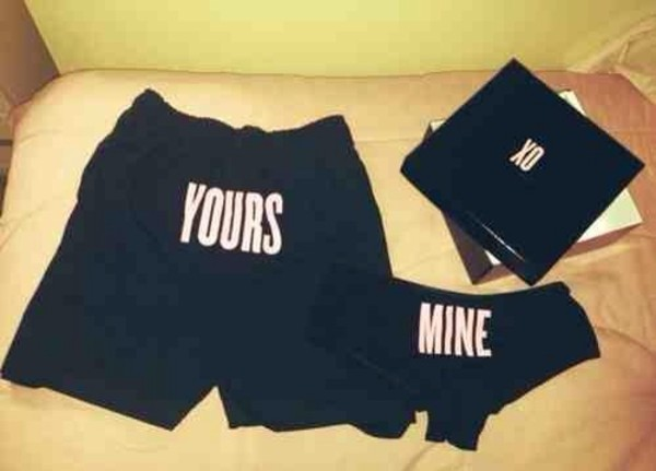 underwear yours and mine boxers black women shirt pink quote on it new panties beyonce