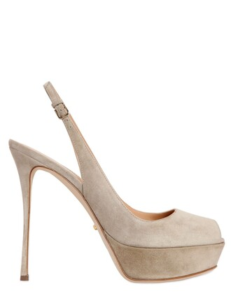 sandals suede taupe shoes