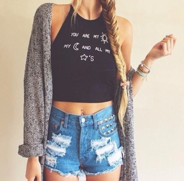shirt black crop top white writing