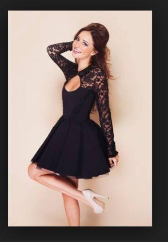 Beautiful Tempest Black Lace Dress 12 | eBay