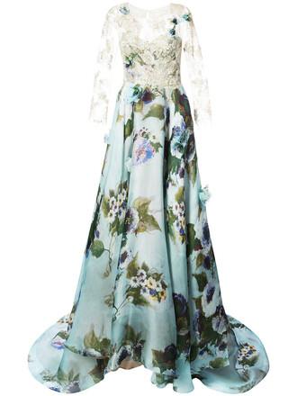 gown women spandex lace blue silk dress