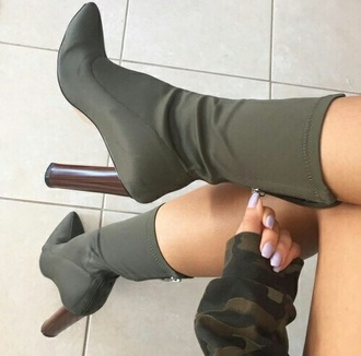 shoes green brown wooden heel nike nike shoes heels heel heel boots high heels olive green