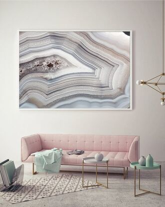 home accessory sofa rug tumblr home decor living room table pastel pink wall decor metallic lamp home furniture frame pastel pink