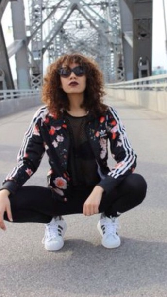 jacket floral adidas floral jacket shorts coat