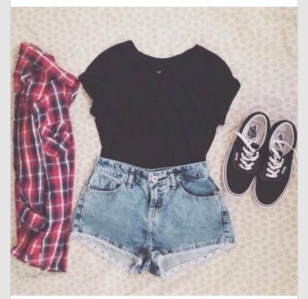 t-shirt pants shoes shirt