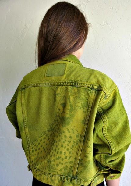 jacket denim jacket levi's vintage faded cheetah