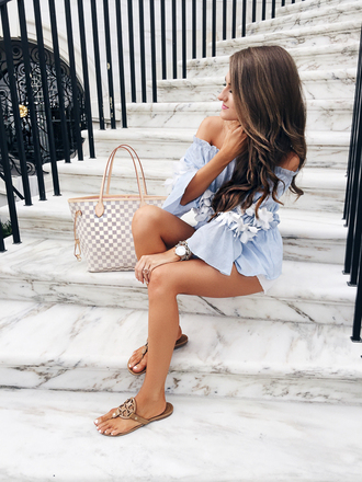 southern curls and pearls blogger top shorts shoes dress jewels bag romper hat sunglasses tank top scarf pants