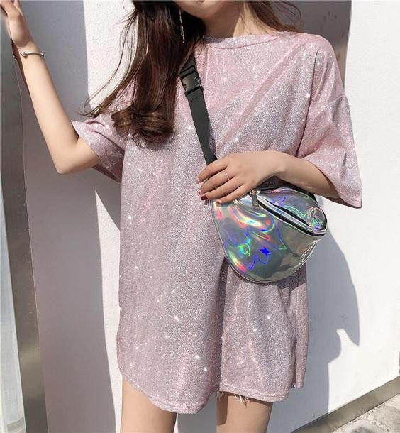 blouse glitter sparkle t-shirt t-shirt dress tumblr girly girl girly wishlist