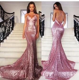 prom dress sequin prom dress sparkly prom dress pink prom dress