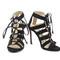 Black suede strappy sandals