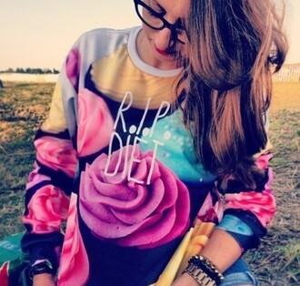 sweater rip diet cupcake unisex sweatshirt