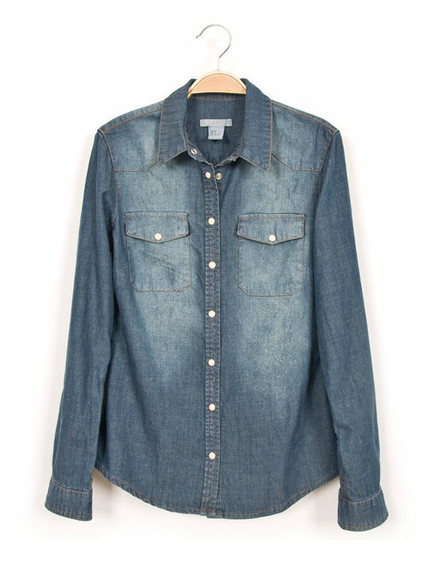 denim shirt light blue spring wear womens fashion best seller popular