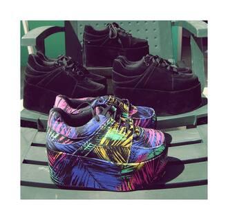 shoes black velvet black velvet black flatforms flatforms