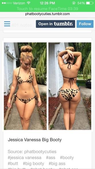 swimwear jessica vanessa curvy booty butt bikini top bottoms
