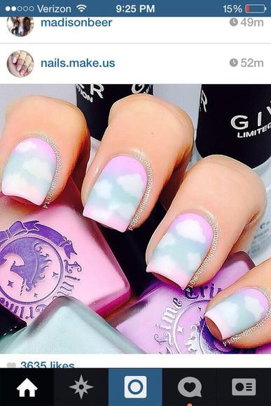 nail polish cool clouds