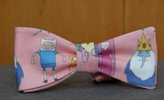 jewels adventure time bow pink harajuku bowtie finn the human jake the dog