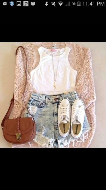bag shoes shirt shirt cardigan