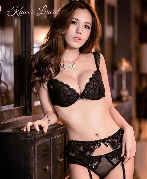Underwear Kaur S Laurel Sexy Black Lace Lingerie Bra
