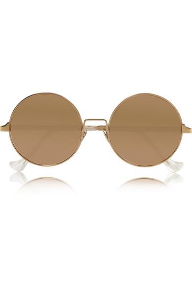 Plated mirrored sunglasses