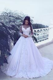 dress,brautkleider mit ärmel,a linie hochzeitskleider,weiße hochzeitskleider,brautmoden online