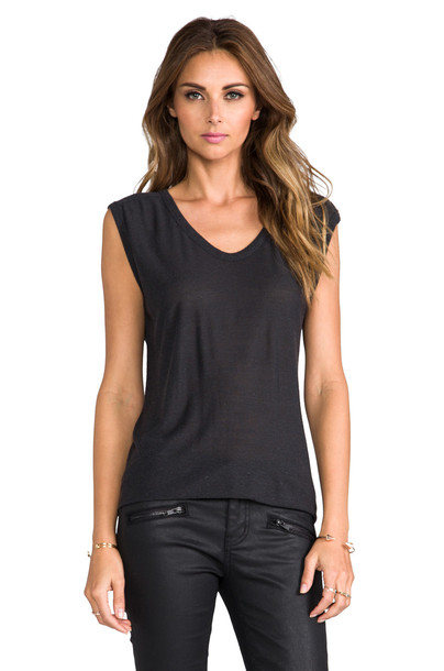 T by Alexander Wang muscle tee classic charcoal