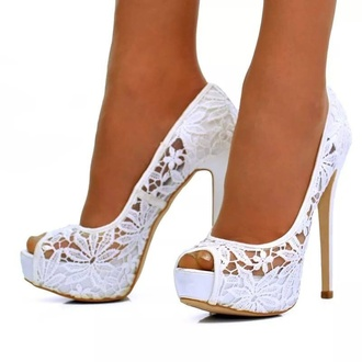 shoes high heels peep toe white heels lace heels lace heels jewels black ankle strap