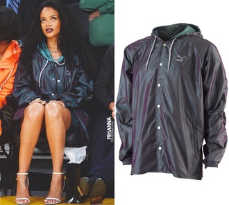 jacket clothes celebrity style puma rihanna