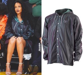 jacket clothes celebrity style puma rihanna