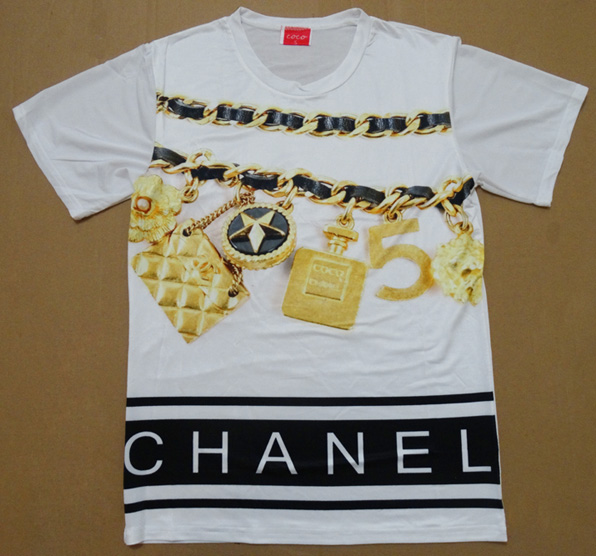 Chanel Logo Chain Charms T Shirt From Tumblr Fashion On