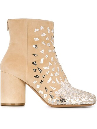 embellished boots ankle boots nude shoes