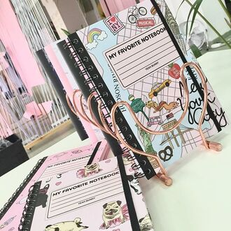 home accessory yeah bunny notebook new york city cute school accessories cute accessories
