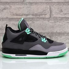 Air Jordan 4 Retro IV GS Green Glow Grey Cement Black Bred '13 Fear 408452 033 | eBay
