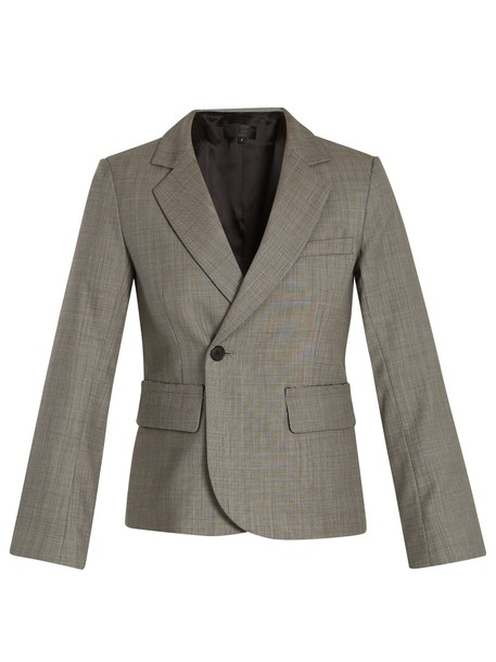 Nili Lotan blazer wool grey jacket
