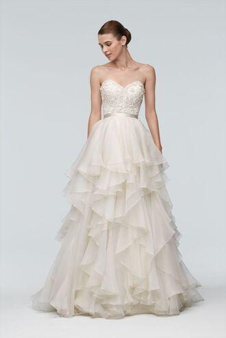 dress bustier dress bustier wedding dress wedding dress wedding corset frilly embroidered long dress white dress white wedding dress strapless dress bun