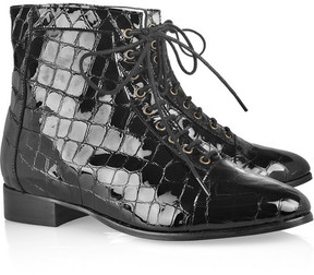 Leather ankle boots at shopstyle