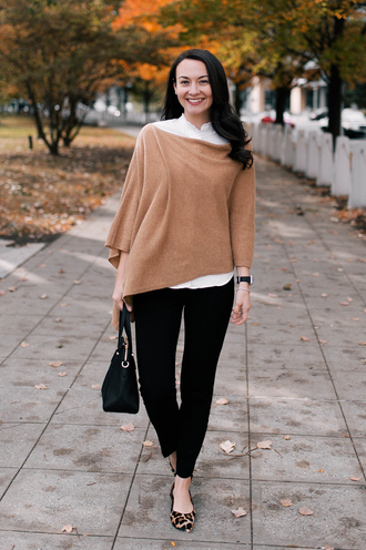 thecollegeprepster blogger jewels pants shirt bag handbag black jeans flats