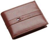 bag,mens wallet,leather,brown,tommy hilfiger
