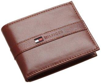 bag mens wallet leather brown tommy hilfiger
