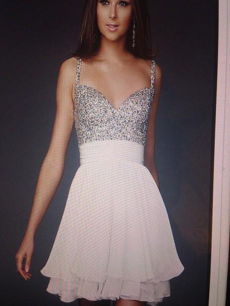 dress white prom dress