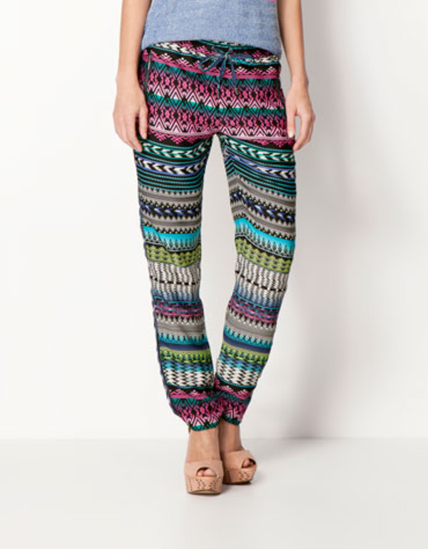 pants blue pink