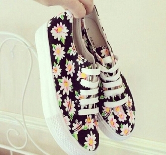 shoes vans floral perfect cool