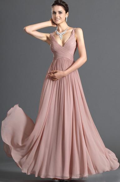 prom dress purple dress formal formaldress formal dress v neck dress floor length dress floor length maxi dress sequined dress a-line floor ruched chiffon pearl pink
