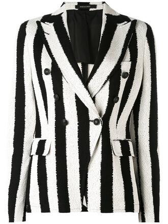 blazer women cotton black jacket